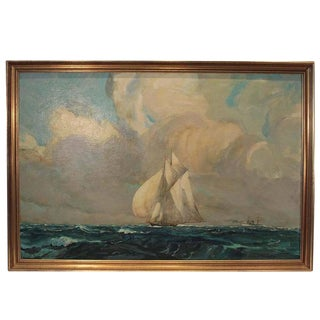 Sail Boat Oil Painting James a Mitchell