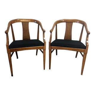 Midcentury Modern Tamerlane by Thomasville Dining Armchairs - A Pair
