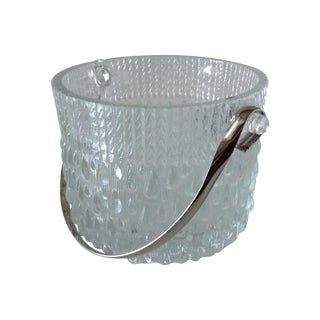 Mid-Century French Glass Teardrop Ice Bucket