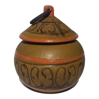 Italian Textured Lidded Pot