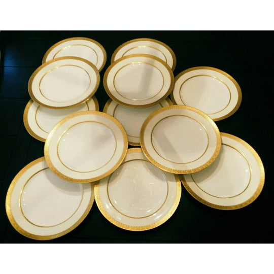 Mintons for Tiffany & Co Dinner Plates - Set of 12 - Image 6 of 6
