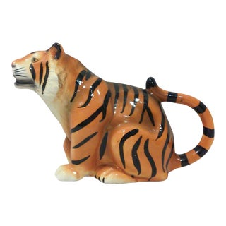 Ceramic Tiger Pitcher