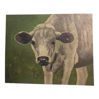 Wood Painting of Cow & Greens