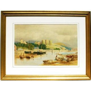 A River & Castle Scene, 1864