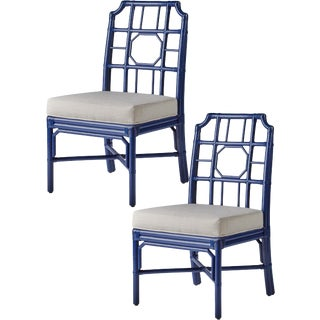 Blueberry Regeant Side Chairs - A Pair