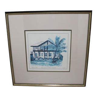 "Catherine Beale ""Black & White House, Singapore"" Print"