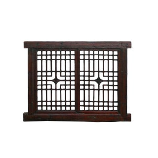 Rustic Chinese Wood Window Panel