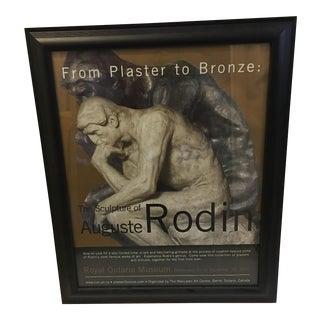 Auguste Rodin Sculpture Exhibit Poster