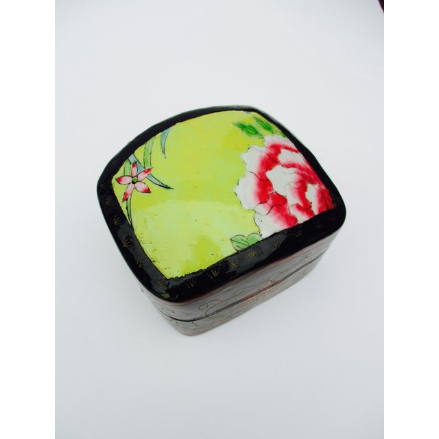 Image of Asian Lacquer Porcelain Boxes - Set of 3