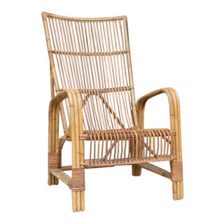 French Vintage Rattan Armchair