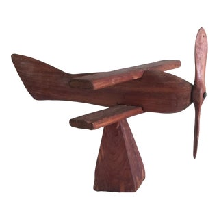 1940s Wood Airplane Sculpture