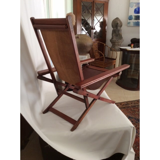 Antique Ocean Liner Folding Deck Chair - Image 11 of 11