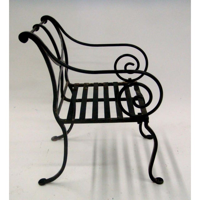 1980s Spanish Metal Armchair - Image 4 of 7