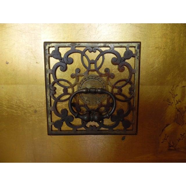 Renzo Rutili Chinoiserie Gold Cabinet - Image 9 of 10