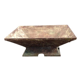 Chinese Mottled Green Cast Iron