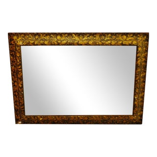 Antique Gilt Gesso Floral Filigree Framed Wall Mirror