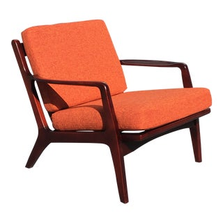 Vintage Kofod Larsen Danish Modern Lounge Chair