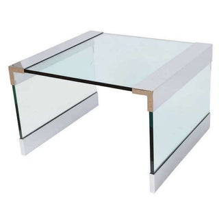 Pace Collection Steel & Glass Coffee Table