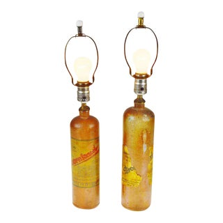 German Doornkaat Schnapps Bottle Lamps - A Pair