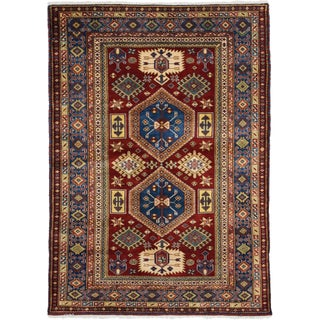 "New Shirvan Hand-Knotted Rug- 3'10"" x 5'5"""