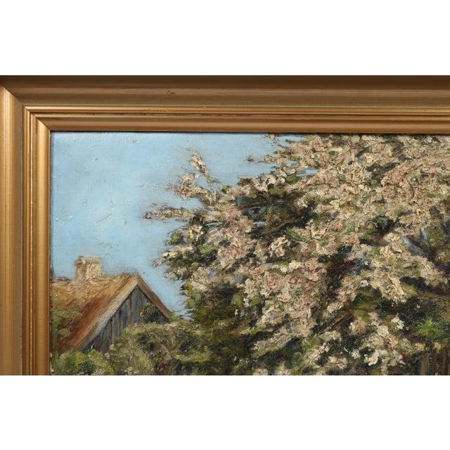 Danish Impression Oil Painting 'Flowering Tree' - Image 3 of 4