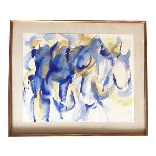 Blue Abstract Watercolor Painting