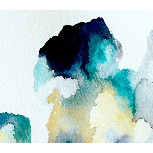 "Ellen Sherman ""Color Study 2"" Watercolor Painting - Image 4 of 4"