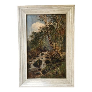 """Vintage """"Stream in the Woods"""" Oil Painting"""