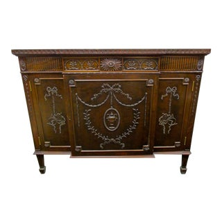 Neoclassical Style Carved Mahogany Sideboard
