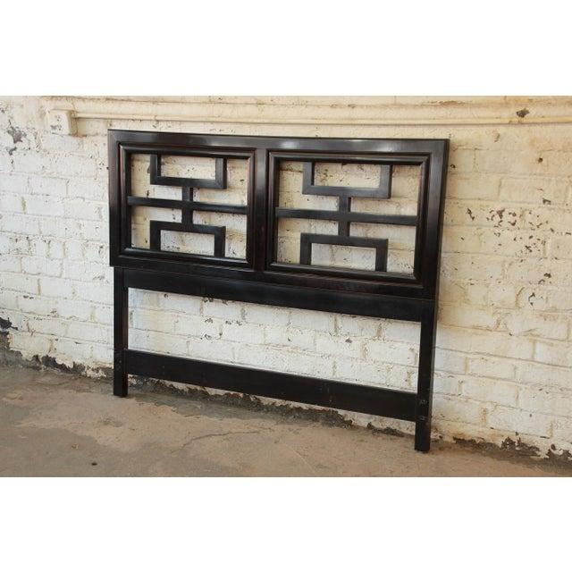 Century Furniture Chin Hua Black Lacquer Full Size Headboard - Image 3 of 6