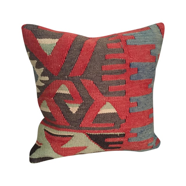 Throw Pillows King Size Bed : Vintage Kilim Throw Pillow Chairish