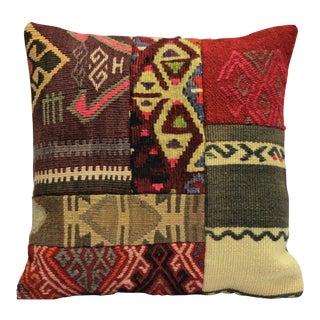 Turkish Vintage Handmade Kilim Pillow Cover