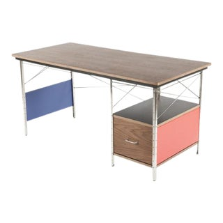 Desk Unit 20: Mid-Century Modern Drawer Desk with Colored Panels