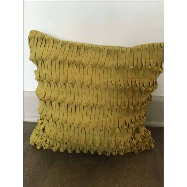 West Elm Decorative Pillow, Mustard Toned - 2 Chairish