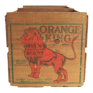 """Orange King"" Vintage Orange Crate"