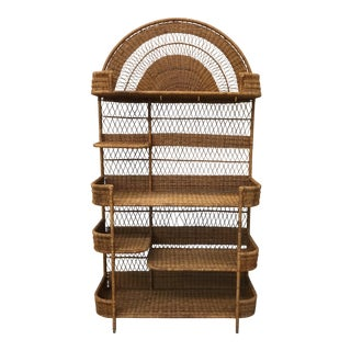 Boho Chic Wicker Baker's Rack