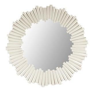 Selamat Designs White Round Mirror