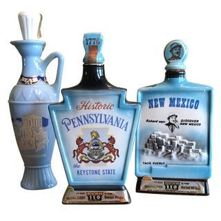 Jim Beam Decanters - Set of 3