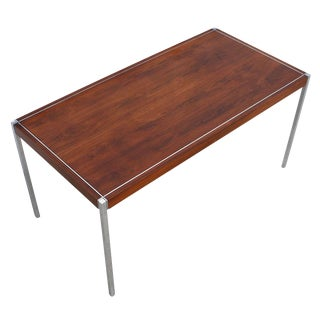Richard Schultz for Knoll Int'l -- Rosewood & Chrome Desk / Work Table