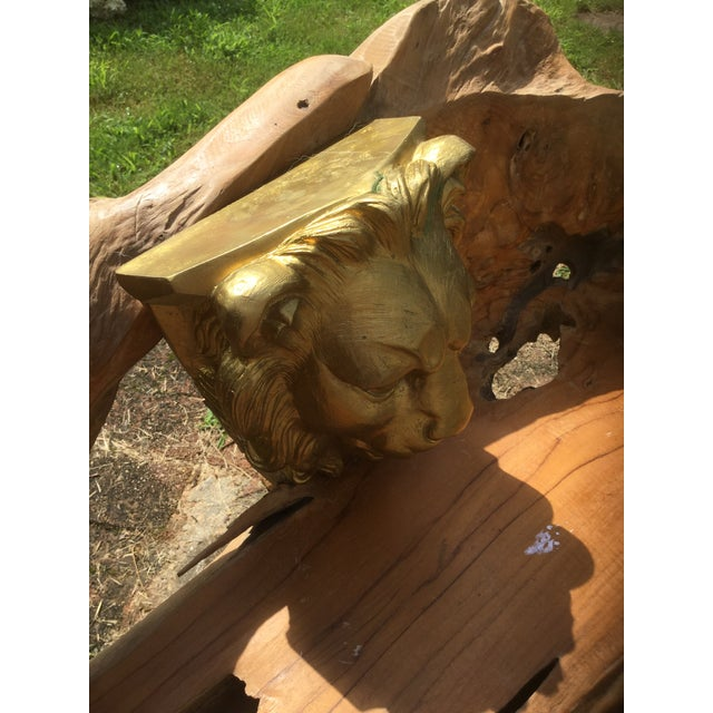 Majestic Golden Lion Wall Shelfs - a Pair - Image 9 of 10