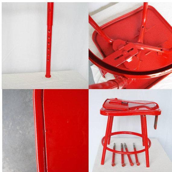 Image of Industrial Adjustable Bar Stool or Drafting Stool