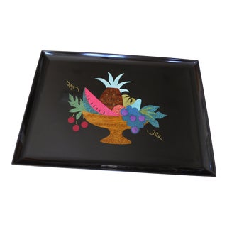 Mid-Century Couroc Tropical Tray