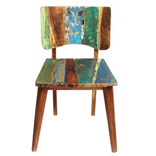 Reclaimed Boat Wood Chair