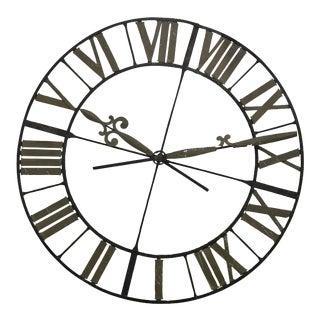 19th Century Wrought Iron Clock Face