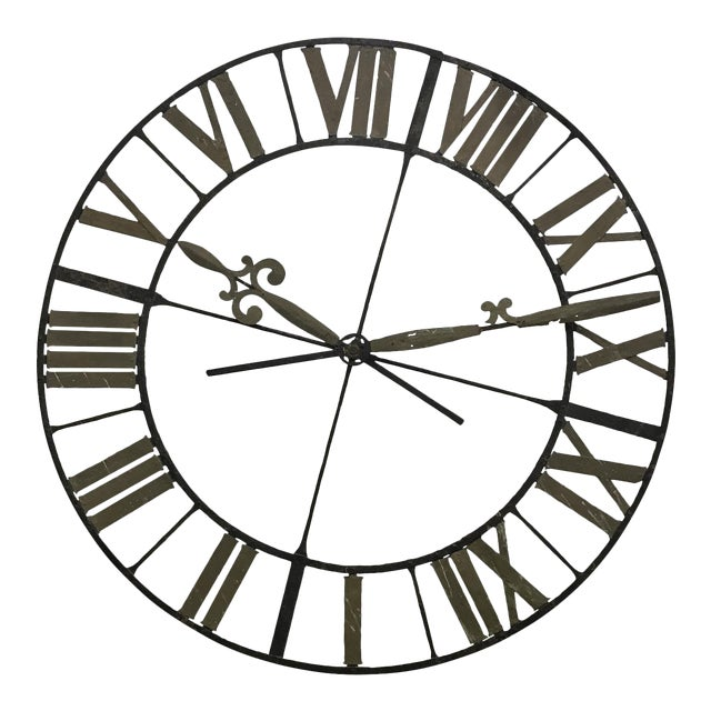19th Century Wrought Iron Clock Face - Image 1 of 4