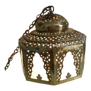 Vintage Brass Moroccan Lantern