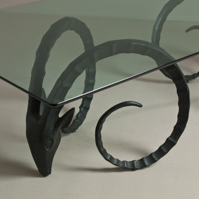 A Large Rams Head Based Dining Table 1970s - Image 3 of 6