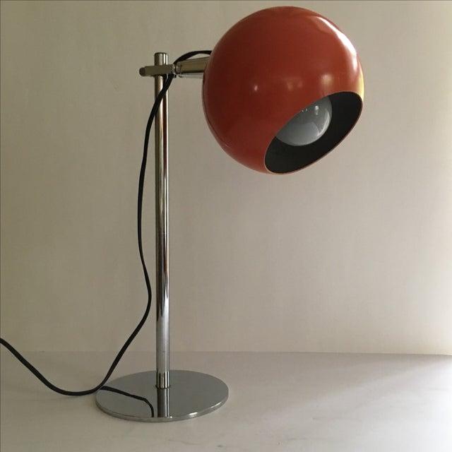 Image of Orange Vintage Mid-Century Eyeball Lamp