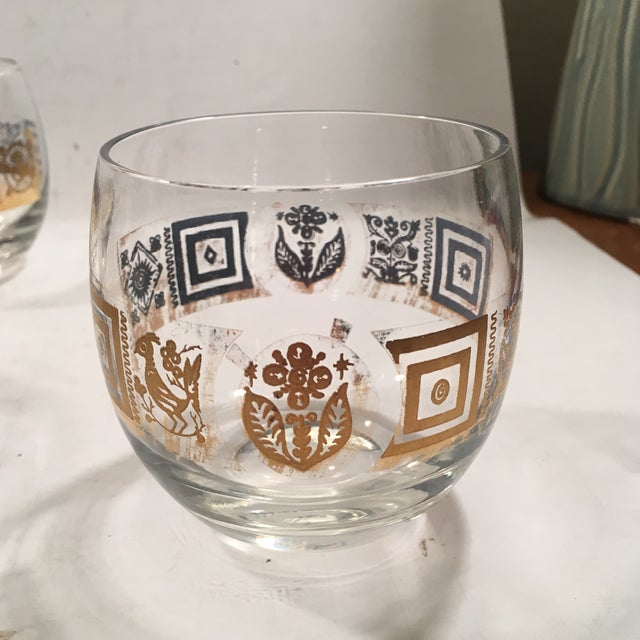 Vintage Culver Roly Poly Glasses - Set of 5 - Image 4 of 9
