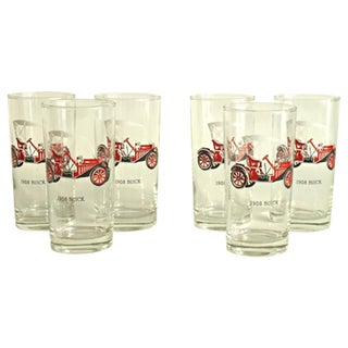 Antique Car Tom Collins Glasses - Set of 6